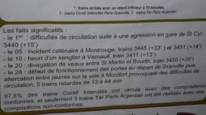 Retards sur la ligne Paris-Granville