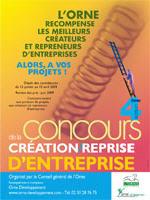 Affiche du 4e concours ornais de la création d\'entreprise