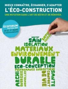 Affiche du 1er Ecoforum de Châteaubriant