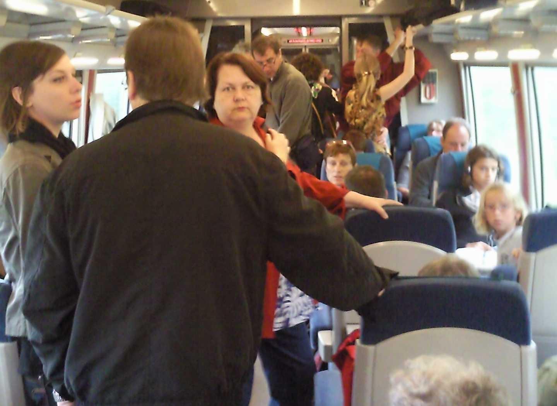 Train Granville Paris super bondé