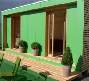 Bureau vert pour le jardin