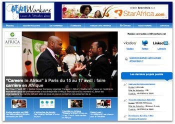 Home page du site Afriworkers
