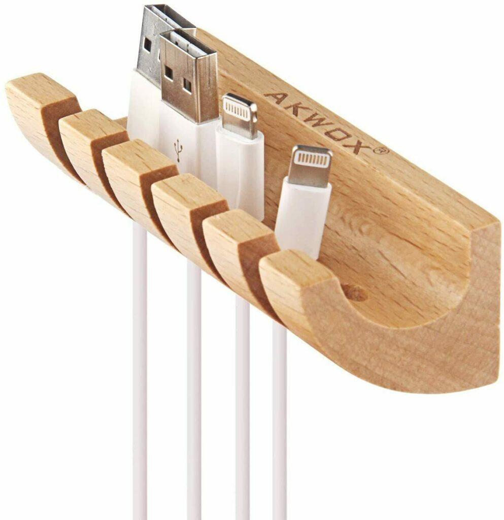 Organiseur de cables en bois