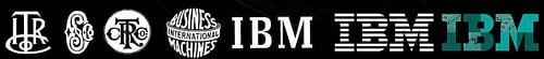 Evolution du logo IBM