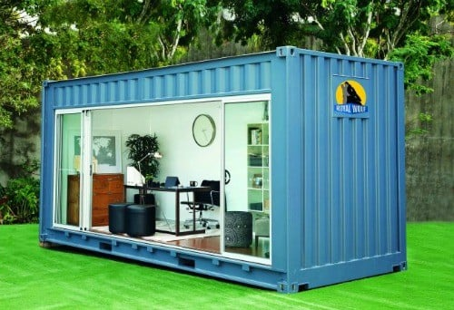 un container comme bureau a vous dit. Black Bedroom Furniture Sets. Home Design Ideas
