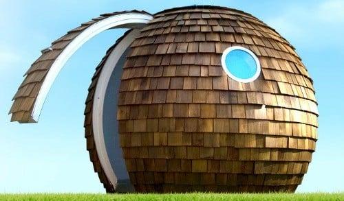 t l travaillez dans archipod une bulle dans votre jardin zevillage. Black Bedroom Furniture Sets. Home Design Ideas