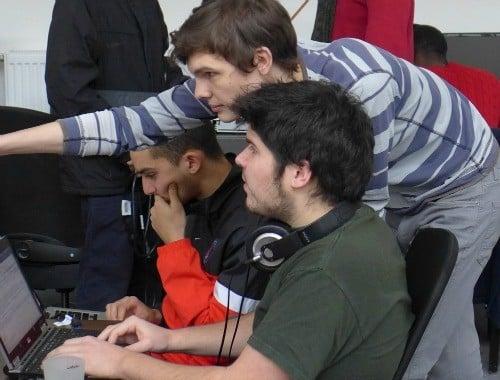 Elèves codeurs à Simplon