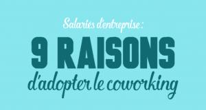 Infographie sur les raisons de faire du coworking