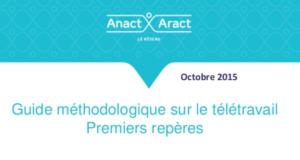 Guide de l'ANACT sur le télétravail