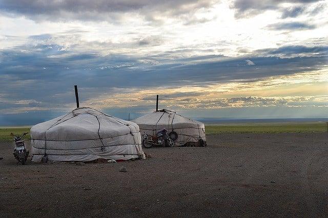 Yourtes de nomades mongols