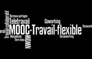 nuage mots-clés MOOC travail flexible