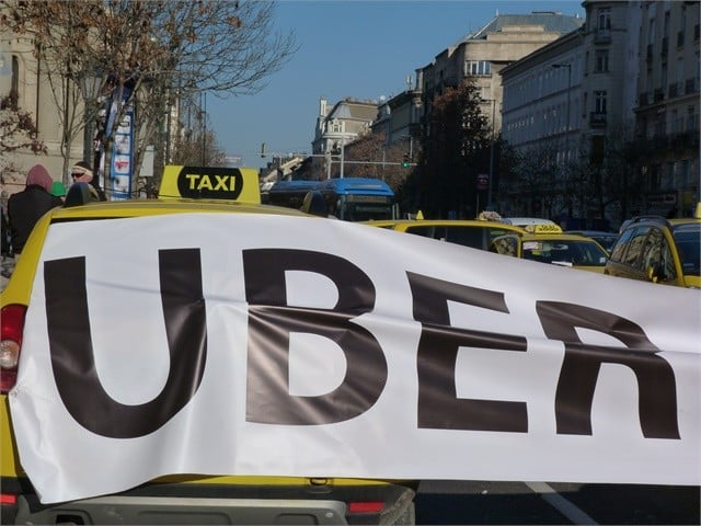 Manif taxis anti-Uber