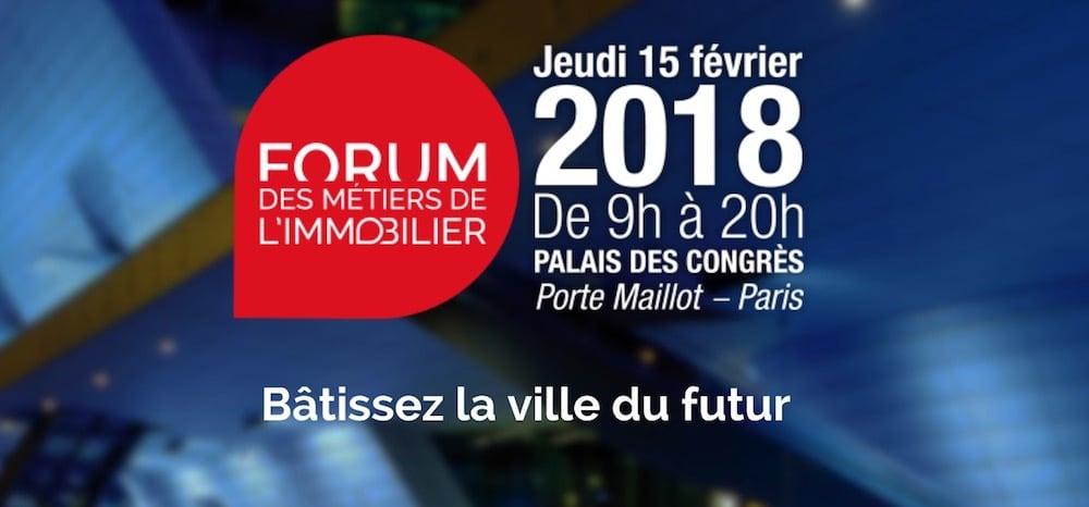 Forum des métiers de l'immobilier 2018