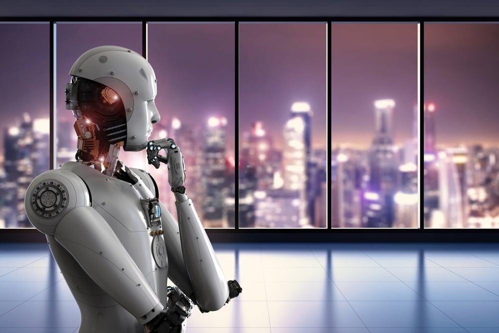 robot au bureau
