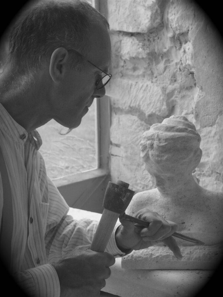 Marino Manca - Tailleur de pierre N&B