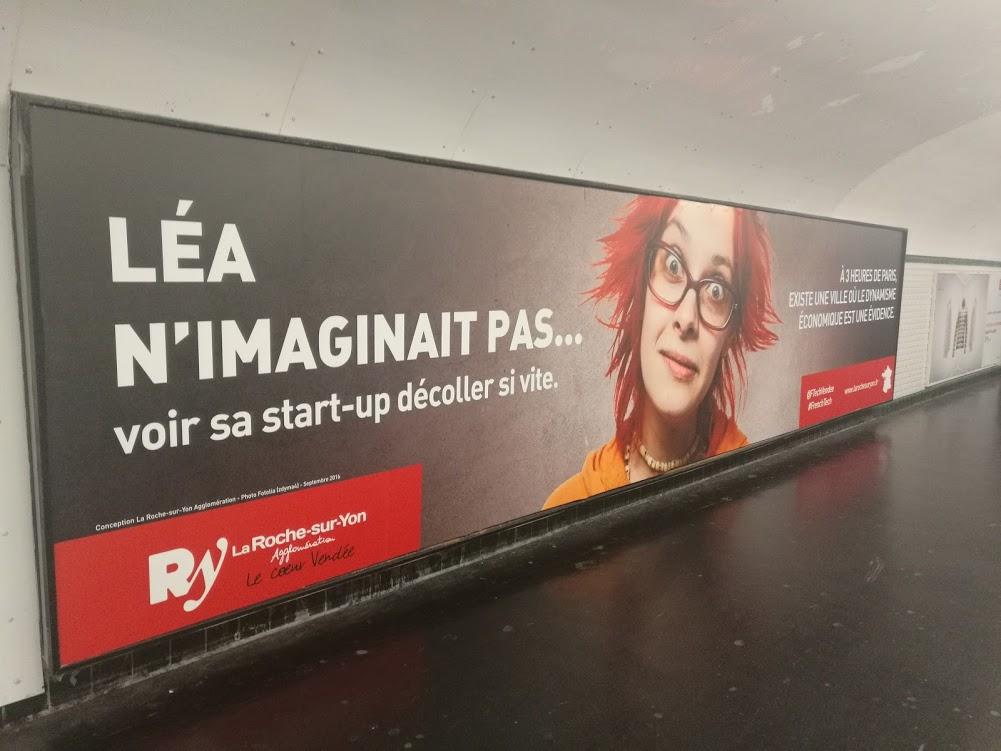 Campagne de La Roche-sur-Yon dans le métro parisien